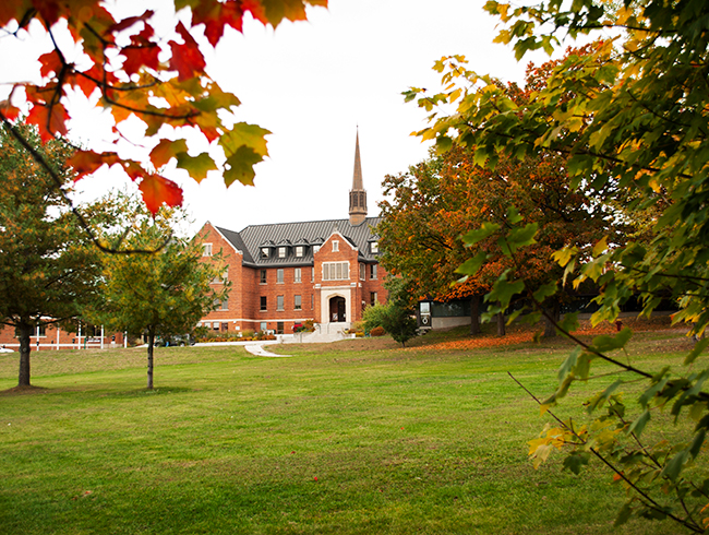 university building in the autumn