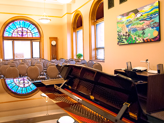 piano performance room