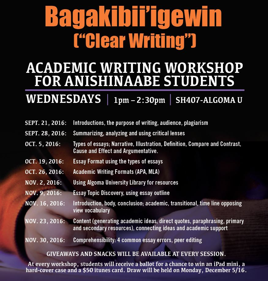 Writing Archives  Algoma Academic Writing For Anishinaabe Students