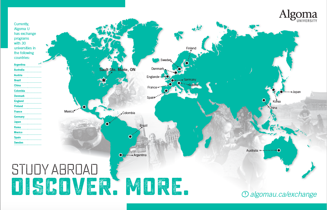 map of countries where study abroad opportunities are available