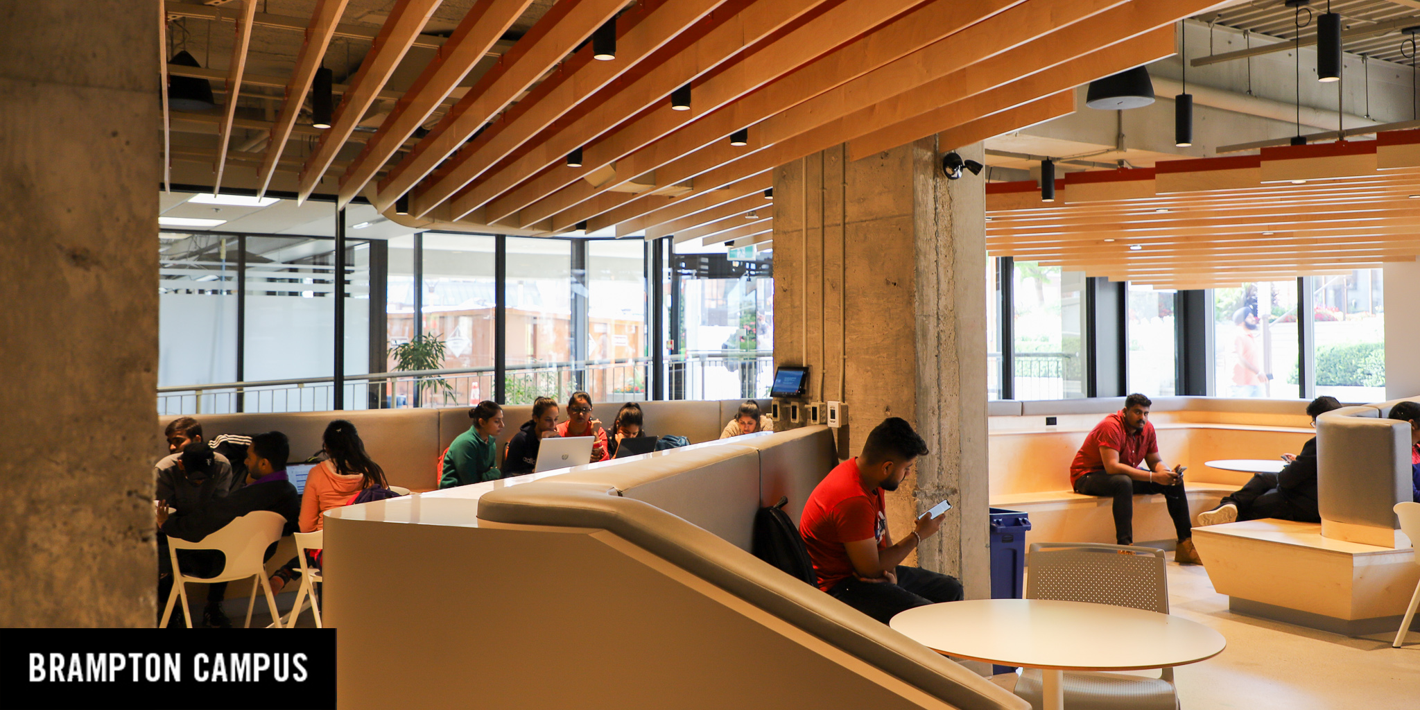 students in new study space