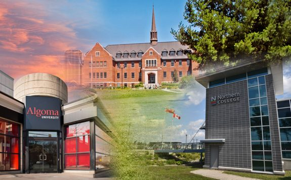 buildings from all three campuses